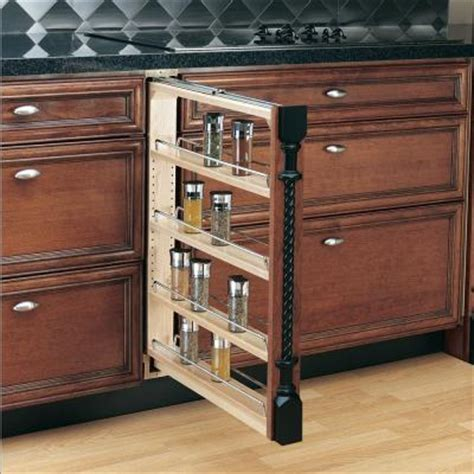Pull Out Spice Rack Hardware by Rev A Shelf 30 In H X 3 In W X 23 In D Pull Out Between