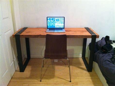 reclaimed wood desk diy industrial reclaimed wood and blackened steel desk diy