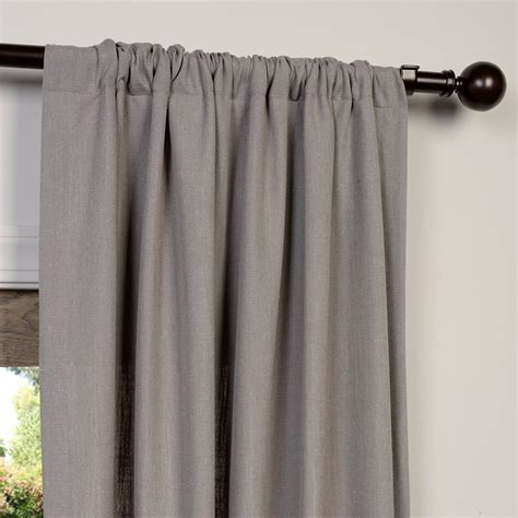 heavy linen curtains buy pewter grey heavy faux linen curtain drapes