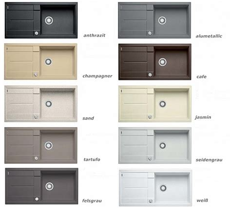 Sink Designs Gro 223 E Einbau Granitsp 252 Le Blanco Sp 252 Le Silgranit 9 Farben