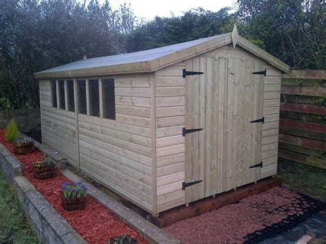 garden shed tanalised super heavy duty  apex mm tg