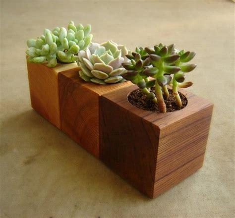 Handmade Wooden Planters - 16 minimalistic handmade wooden planter designs wooden