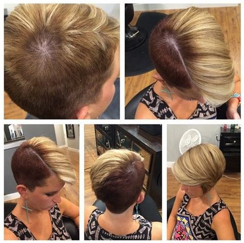 short edgy haircuts fr women shaved bob on pinterest undercut hairstyles undercut