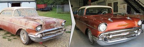 wrecked car before and after how to save money on a salvage car restoration auto