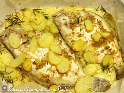 cucinare rombo rombo al forno con patate