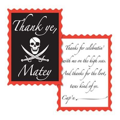 pirate thank you card template pirate thank you notes partycheap