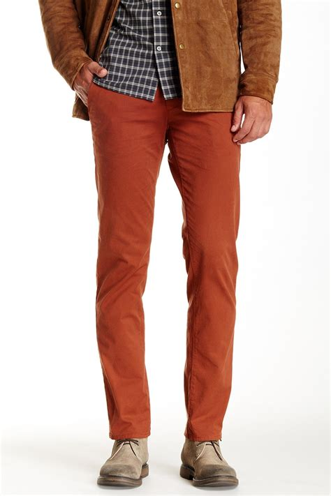 mens colored these rust colored ag slim leg for the guys