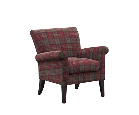 tartan armchair warrenpoint claret red tartan armchair