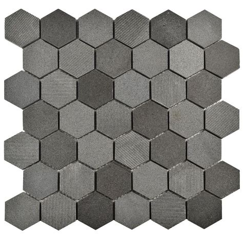 merola tile structure due hex black 11 3 4 in x 12 in x