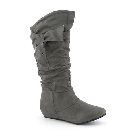 candies 06 womens mid calf wedge boot