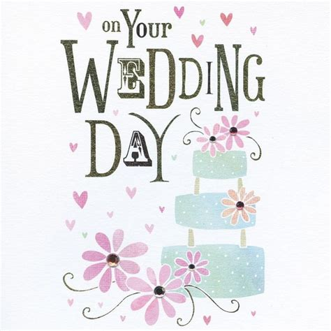Wedding Day Cake by Wedding Cake Wedding Card Karenza Paperie