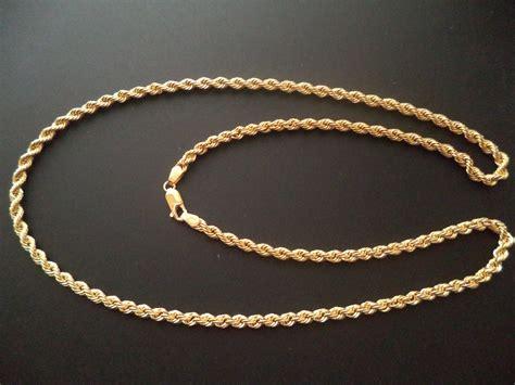 cadena torsal cadena torsal broche perico oro italiano 10k 50 cms c