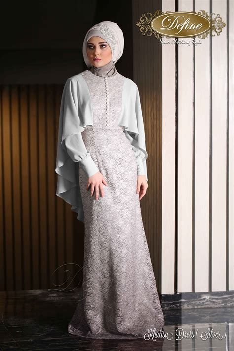 Gamis Pesta Warna Silver dress gaun with awesome photos in germany playzoa