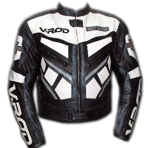 Motorrad Lederjacke Eng v rod schwarz und wei 223 farbe motorrad lederjacke