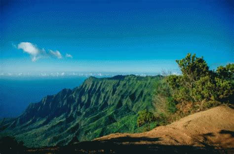 Landscape Gif Kauai Landscape Gif Mountains Clearsky Hawaii Discover