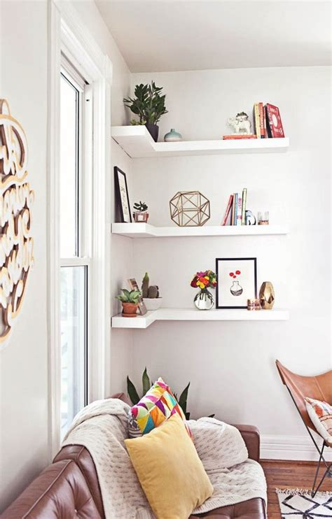 corner shelves living room corner shelves a smart small space solution all the house apartment therapy