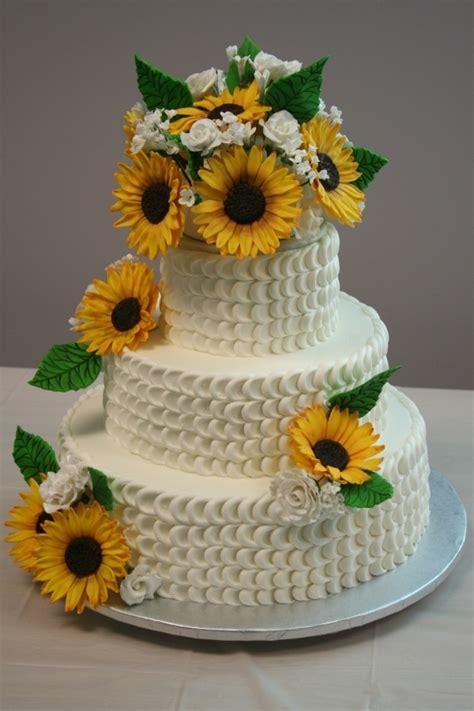 Sunflower Wedding Cake   Cool cakes   Pinterest