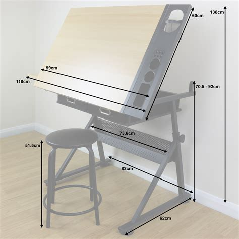 Drafting Table Uk Adjustable Drawing Board Drafting Table With Stool Craft Architect Desk Stand 5051990728752 Ebay