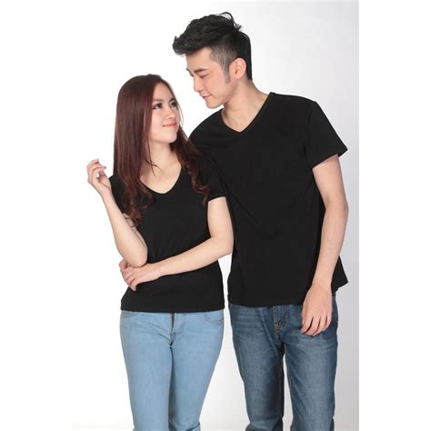 Kaos Polos Wanita Basic Tshirt Ovneck kaos polos katun wanita v neck size s 81105 t shirt black jakartanotebook
