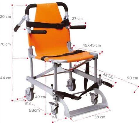 sedia scendiscale sedia portantina da evacuazione a 4 ruote in alluminio