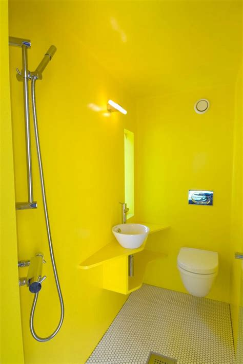 agréable Salle De Bain En Tadelakt #3: salle-de-bain-jaune-25.jpg