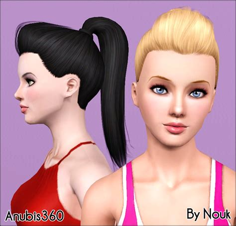 sims 3 high ponytail mod the sims nouk s out of fashion ponytail converted