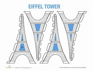 eiffel tower model template 37 best images about paper craft eiffel tower on