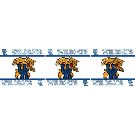 peal and stick wall paper kentucky wildcats peel and stick wall border