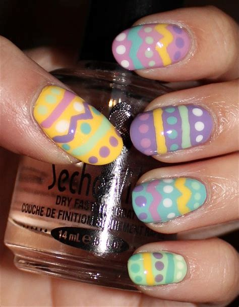 Nail Art Easter Tutorial | nail art tutorial easter egg nails swatch and learn