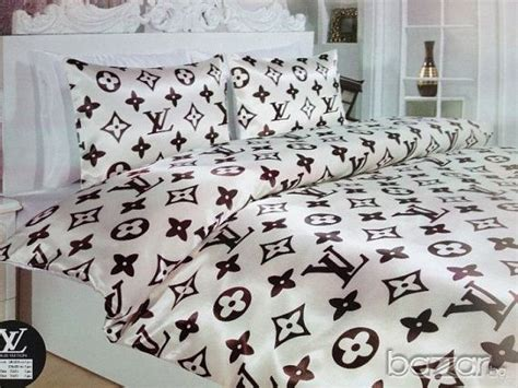 louis vuitton luxury bed set queen size 6 pieces by