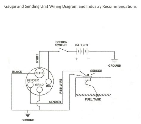 how to wire up a fuel sending unit