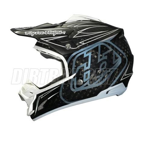 troy lee motocross gear troy lee designs se3 motocross helmet carbon pinstripe