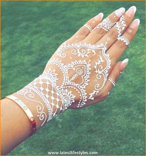henna inspired tattoos on hand beautiful white henna tattoos for with style