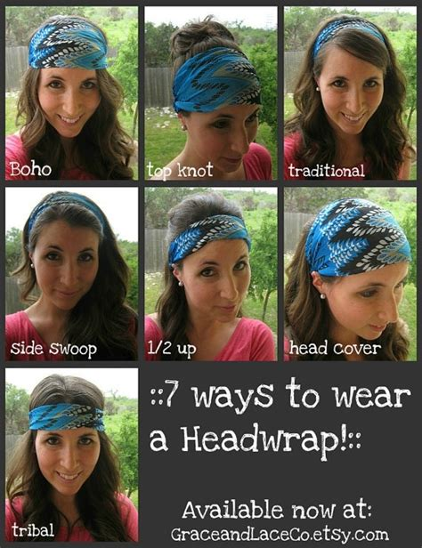 different ways to wear a bandana with short hair ways to wear a head wrap look book accessories
