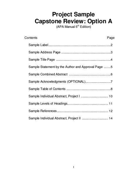 research paper table of contents apa format research paper table of contents