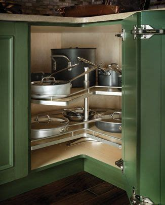 corner cabinet w lazy susan for the home