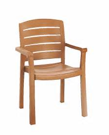 Wooden Garden Dining Chairs Grosfillex Acadia Teakwood Classic Stacking Synthetic Wood