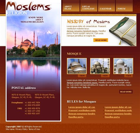 template koran photoshop islam website template 15415