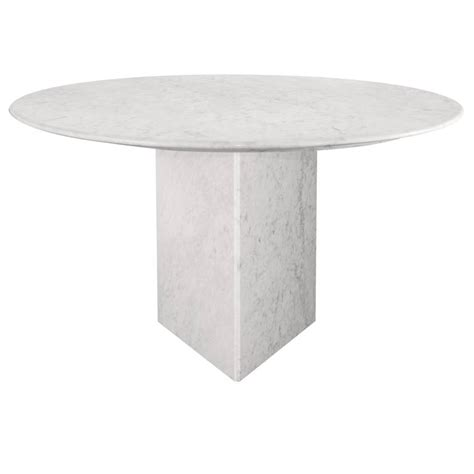 Marble Base Table L by Carrara Marble Dining Table And Base At 1stdibs