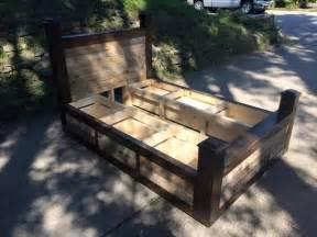 Cheap Platform Bed Frame - diy pallet bed frame with drawers pallet furniture plans