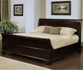 queensize bett abbyson living kingston espresso sleigh size bed