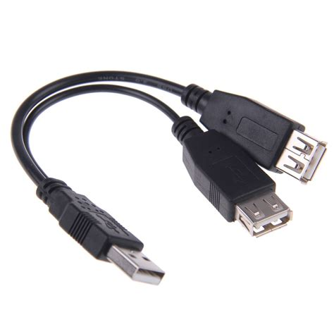 Usb Y Cable usb 2 0 a to 2 dual usb a y splitter extension adapter cable cord ebay