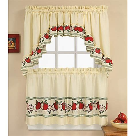 red swag kitchen curtains red delicious kitchen window curtain tiers and swag bed