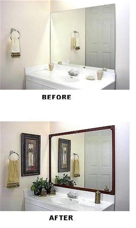 dressing up a bathroom mirror frame bathroom mirrors bath and bathroom mirror frames