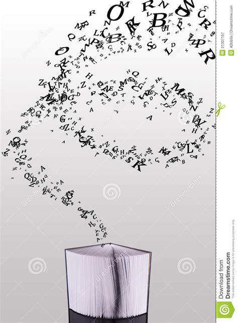libro lettere appassionate libro socchiuso con le lettere di volata in su fotografia stock libera da diritti immagine