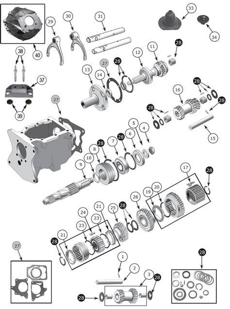 transmission parts diagram interactive diagram jeep cj7 t150 transmission parts