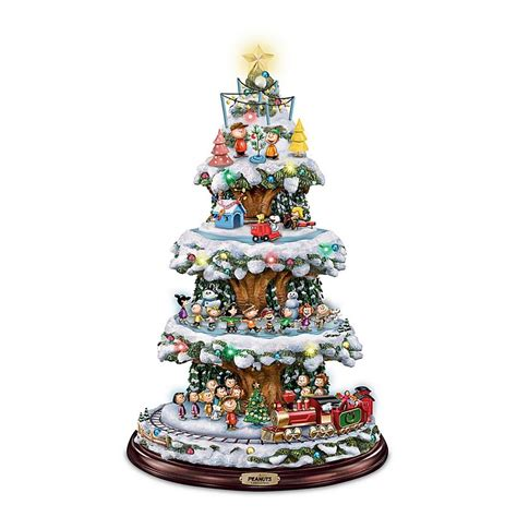 peanuts gang moving lighted christmas tree holiday decor
