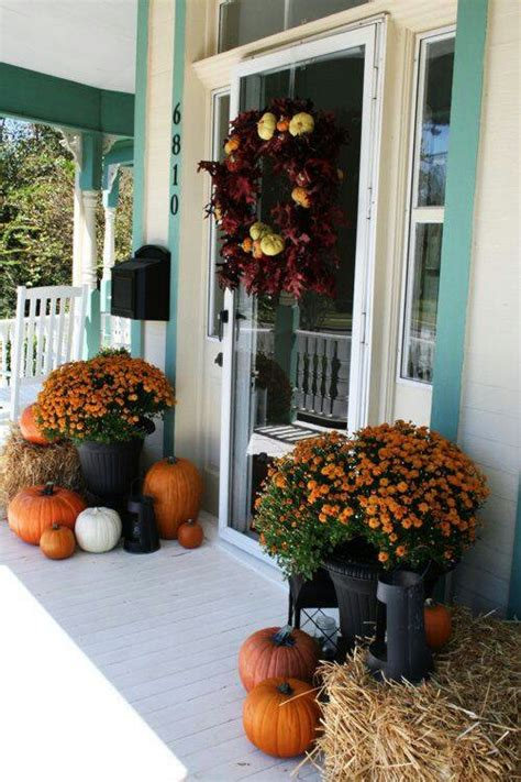 how to decorate porch for fall 85 pretty autumn porch d 233 cor ideas digsdigs