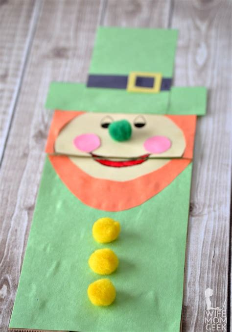 Leprechaun Paper Craft - leprechaun paper bag puppet for st s day