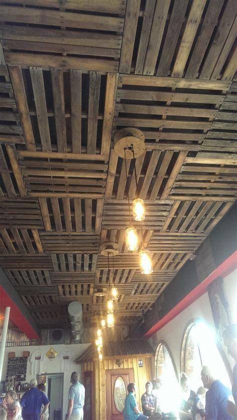 sno town brewery snohomish wa united states pallet ceilings  mason jar edison bulb